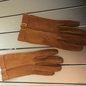 NWOT Lady leather gloves - camel color, Small